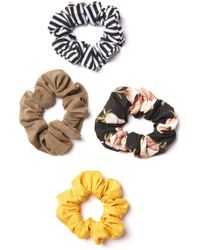 South Moon Under - 4 Pack Solid And Printed Scrunchies - Lyst