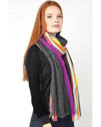 South Moon Under - Solid And Stripe Oblong Scarf - Lyst