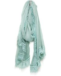 South Moon Under - Frayed Edge Oblong Scarf - Lyst