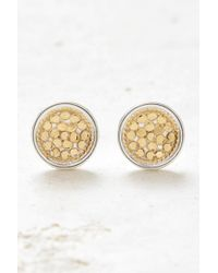 South Moon Under - Gold Dish Stud Earrings - Lyst