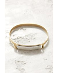A.V. Max - Silver Leather Id Bracelet Silver 1 - Lyst