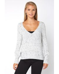 South Moon Under - Donegal Cross Back Sweater - Lyst