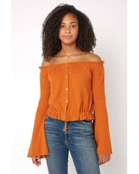 c177a25606855f Charlotte Russe · Sky - For Love Off The Shoulder Top - Lyst