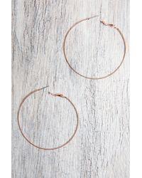 South Moon Under - Rose Gold Hoop Earrings - Lyst