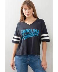 Junk Food Carolina Panthers Football Tee Multi - Blue