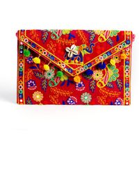 South Moon Under - Elegant Additions Embroidered Decorated Envelope Clutch - Lyst