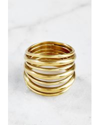 South Moon Under - Layered Strand Ring - Lyst