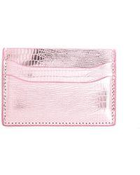 Urban Expressions Iridescent Card Slot Wallet Pink 1