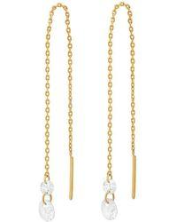 Tai Gold Chain Stone Threader Earrings - Metallic