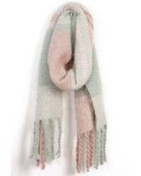 South Moon Under - Scarves Pastel Plaid Scarf - Lyst
