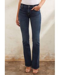 Hudson Jeans Nico Midrise Bootcut Jean In Gambit Dark Denim - Blue