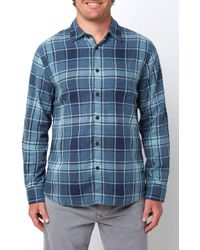 South Moon Under - Stratford Double Cloth Button Down Shirt - Lyst