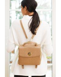 Moda Luxe Women's Layne Croc Backpack - Natural