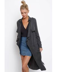 d.RA - On The Road Pe Front Tencel Trench Coat - Lyst