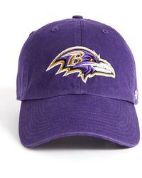 47 Brand Baltimore Ravens Ice Clean Up Hat Purple 1