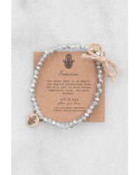 eff.Y.bee - Crystal Bliss Bracelet Silver - Lyst