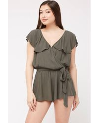 e431733686 Nightcap Olive Embroidered Romper in Blue - Lyst