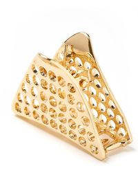 South Moon Under - Gold Perforated Triangle Clip - Lyst