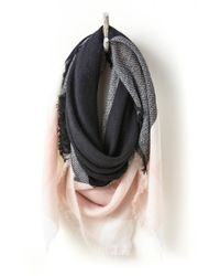 South Moon Under - Black Plaid Oversized Blanket Wrap - Lyst