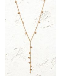 South Moon Under - Stationed Mini Disk Y Necklace - Lyst