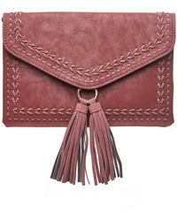 South Moon Under - Foldover Whip Stitch Tassel Clutch - Lyst