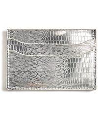 Urban Expressions Iridescent Card Slot Wallet Silver 1 - Metallic