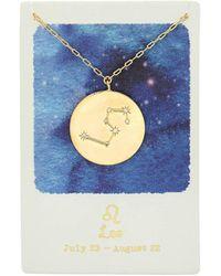 Tai Leo Zodiac Coin Necklace - Metallic