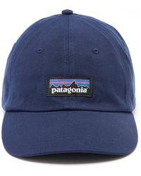 Lyst - Patagonia Splitter Script Trad Cap in Gray for Men 4728e51daa96