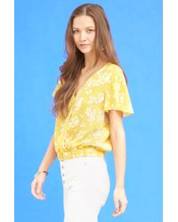 816688e2264c7 Lyst - New York   Company 7th Avenue - Floral Ruffled Cold-shoulder ...