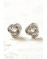South Moon Under - Silver Knot Stud Earrings - Lyst