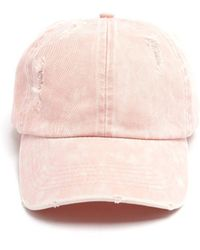 South Moon Under - Solid Distressed Baseball Hat - Lyst