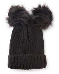 South Moon Under - Double Pom Foldover Beanie - Lyst