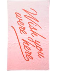 South Moon Under - Wish You Were Here Towel - Lyst