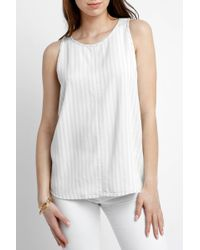 South Moon Under - Braylee Striped Chambray Tank Top - Lyst
