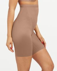 Spanx Shapewear Thinstincts 2.0 High-waisted Mid-thigh Short - Natural