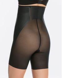 Spanx Haute Contour® High-waisted Mid-thigh Short - Black
