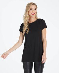 Spanx Perfect Length Top, Short Sleeve Tee - Black