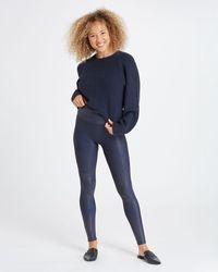 Spanx Faux Leather Leggings - Blue