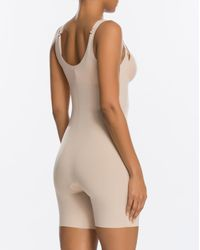 Spanx Thinstincts® Open-bust Mid-thigh Bodysuit - Natural