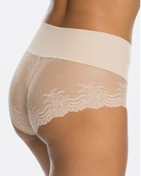 Spanx Shapewear Undie-tectable Lace Hi-hipster Panty - Natural