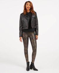 Spanx Faux Leather Leopard Leggings - Multicolor