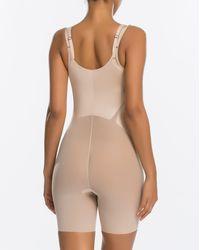 Spanx - Haute Contour® Open-bust Mid-thigh Bodysuit - Lyst