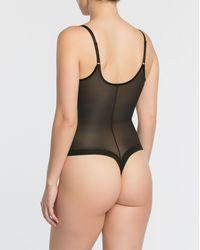 Spanx Shapewear Noveau Thong Bodysuit - Black