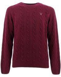 GANT COLOR FRIDAY suéteres hombre Burdeos - Rojo