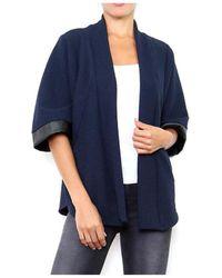 Cendriyon Manteaux Bleu Vêtements Femme Gilet