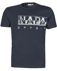 Napapijri SALLAR LOGO T-shirt - Bleu
