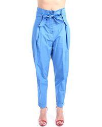 Jucca J3314001 Chino Femme Vent Chinots - Bleu