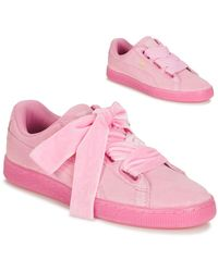 PUMA Lage Sneakers Suede Heart Reset Wn's - Roze