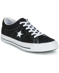 Converse One Star Ox - Gympen In Zwart 158369c