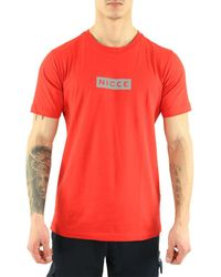 Nicce London T-shirt T-Shirt manches courtes Base - Rouge
